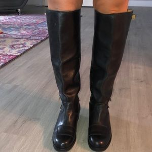 New genuine leather knee length boots